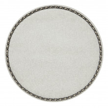 Coco Placemats Milky 15 in round, Set of Four | Gracious Style