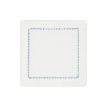 Dolce Cocktail Napkins Blue 6 x 6 in, Set of Four | Gracious Style