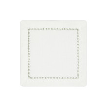 Dolce Cocktail Napkins Green 6 x 6 in, Set of Four | Gracious Style