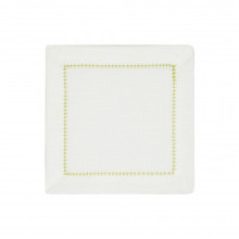 Dolce Cocktail Napkins Lime 6 x 6 in, Set of Four | Gracious Style