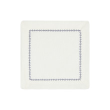 Dolce Cocktail Napkins Navy 6 x 6 in, Set of Four | Gracious Style