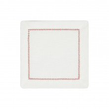 Dolce Cocktail Napkins Red 6 x 6 in, Set of Four | Gracious Style