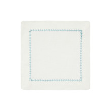 Dolce Cocktail Napkins Turquoise 6 x 6 in, Set of Four | Gracious Style