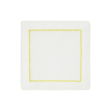 Dolce Cocktail Napkins Yellow 6 x 6 in, Set of Four | Gracious Style