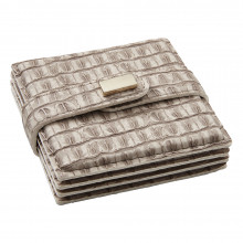 Everglades Coasters Beige, Set of Four | Gracious Style