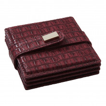 Everglades Coasters Burgundy, Set of Four | Gracious Style