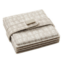 Everglades Coasters Light Beige, Set of Four | Gracious Style