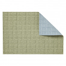 Everglades Placemats Reversible Set Of 4 Rectangle Baby Blue/Green Rectangle | Gracious Style