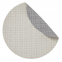 Everglades Placemats Reversible Round Gray and Light Gray, Set of Four | Gracious Style