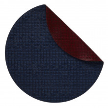 Everglades Placemats Reversible Round Navy and Burgundy, Set of Four | Gracious Style