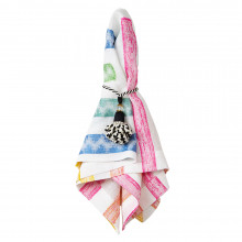 Fiesta White/Multicolor 20 x 20 Napkins, Set of 4 | Gracious Style