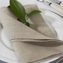 Pure Linen 22 x 22 in Napkins Beige, Set of Four | Gracious Style