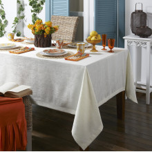 Lisbon Stain-Resistant White Table Linens | Gracious Style