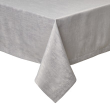 Lisbon Light Gray Stain-Resistant Damask Table Linens | Gracious Style