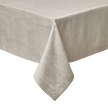 Lisbon Stain-Resistant Tablecloth Taupe 66x66 | Gracious Style