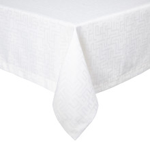 London Coated Stain-Resistant Table Linens, White | Gracious Style