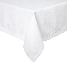 London White Stain-Resistant Damask Table Linens | Gracious Style