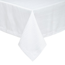 Madison Stain-Resistant White Table Linens | Gracious Style