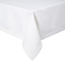 Manhattan Coated Stain-Resistant Table Linens, White | Gracious Style