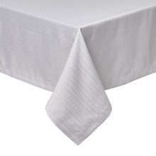 Manhattan Light Gray Stain-Resistant Damask Table Linens | Gracious Style
