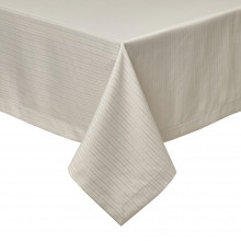 Manhattan Taupe Stain-Resistant Damask Table Linens | Gracious Style