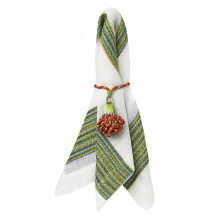 Maya Lime Stain-Resistant Table Linens | Gracious Style