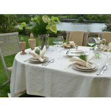 Miami Coated Stain-Resistant Table Linens, Cream | Gracious Style