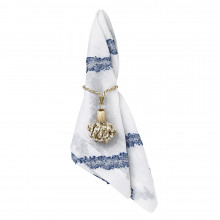 Mykonos Blue/White Stain-Resistant Table Linens | Gracious Style