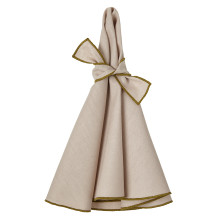 Napa Round Napkins Beige/Olive 22 in round, Set of Four | Gracious Style