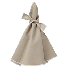 Napa Round Napkins Beige/White 22 in round, Set of Four | Gracious Style