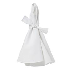 Napa Napkins White/White Hem, Four | Gracious Style