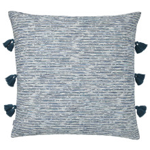 Mar 063 Pillow 22 x 22 in Square Blue and White Tweed | Gracious Style