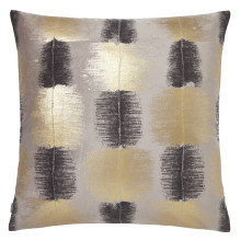 Ombre 062 Pillow 22 x 22 in Square Gold and Gray | Gracious Style
