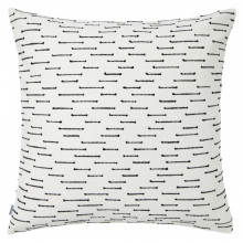 Ombre 070 Pillow 22 x 22 in Square Black and White | Gracious Style
