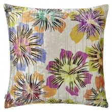 Sol 061 Pillow 22 x 22 in Square Ivory Multicolor | Gracious Style