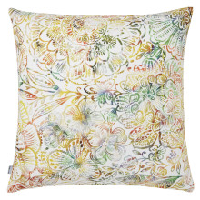 Sol 064 Pillow 22 x 22 in Square Yellow Multicolor | Gracious Style
