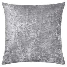Terra 054 Pillow 22 x 22 in Square Light Gray and Gold Metallic | Gracious Style