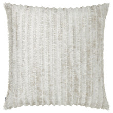 Terra 057 Pillow 22 x 22 in Square Off-White Fringe Metallic | Gracious Style