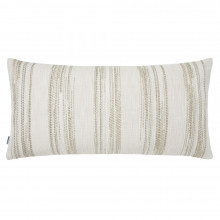 Terra 055-2 Pillow 12 x 24 in Striped Beige Metallic | Gracious Style