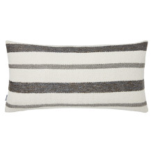 Terra 056-2 Pillow 12 x 24 in Striped Gray Metallic | Gracious Style