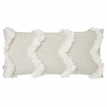 Terra 065-2 Pillow 12 x 24 in Beige and White | Gracious Style