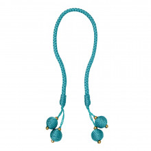 Porto Napkin Ring Aqua, Set of Four | Gracious Style