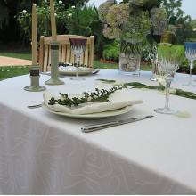 Soho Easy Care Table Linens, White | Gracious Style