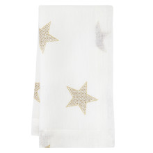 Starry Night Gold Stain-Resistant Table Linens | Gracious Style