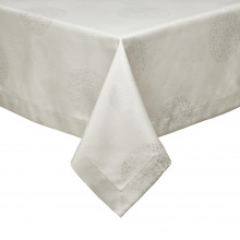 Sydney Taupe Stain-Resistant Damask Table Linens | Gracious Style