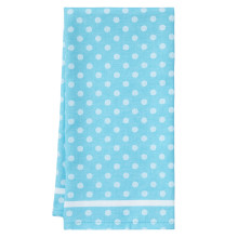 Polka Dot Tea Towels Turquoise 20 x 28 in | Gracious Style
