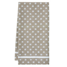 Polka Dot Tea Towels Chestnut 20 x 28 in | Gracious Style