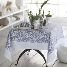 Santorini Stain-Resistant Print Table Linens | Gracious Style