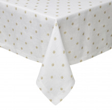Vogue Gold Stain-Resistant Print Table Linens | Gracious Style