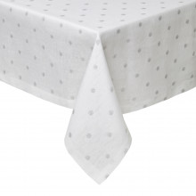 Vogue Silver Stain-Resistant Print Table Linens | Gracious Style